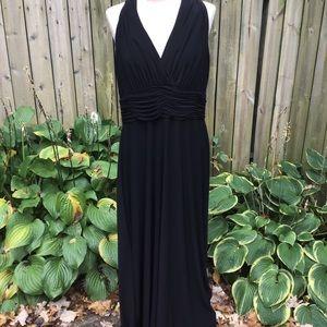 Black Label by Evan Picone Black Dress Sz 16 NWT